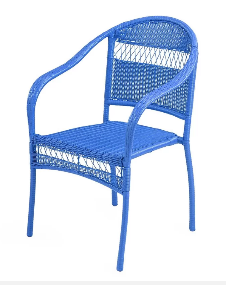 8 Cool Patio Chairs Tangier Wicker Stacking Patio Dining Chair #PatioChairs #Patio #Porch #Balcony #SmallSpaceLiving #OutdoorLiving #TangierWickerChair
