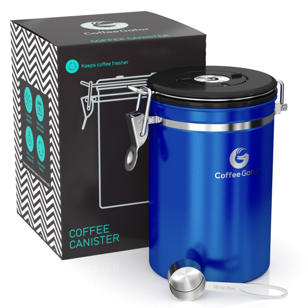 15 Fabulous Father's Day Gifts Coffee Gator Stainless Steel Canister #CoffeeGator #CelebrateFathersDay #FathersDay #FathersDayGifts #GiftsForDad #GiftsForMen #CoffeeLovers
