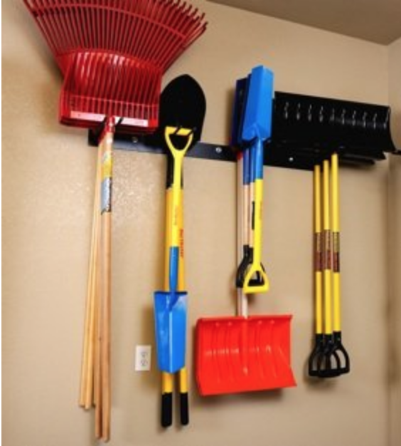15 Clever Garage Hacks Rough Rack 4 By 4 Tool Rack #Garage #GarageCleaning #Cleaning #GarageHacks #GarageOrganization #Organization #GarageStorage #RoughRack