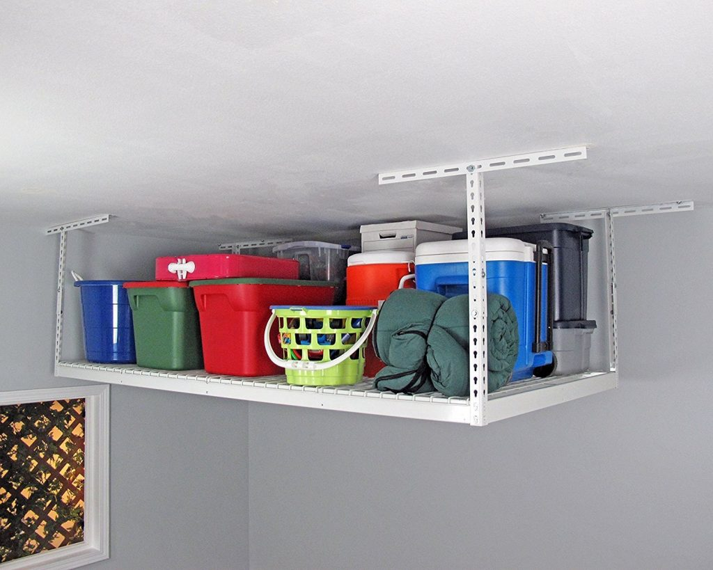 15 Clever Garage Hacks Saferacks 4 X 8 Overhead Garage Storage Rack #GarageCleaning #GarageStorage #GarageOrganization #GarageHacks #SafeRacksStorageRack