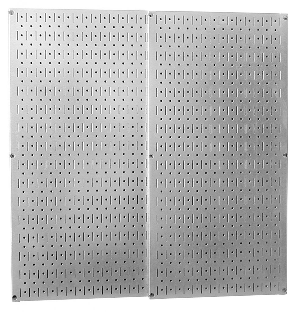 15 Clever Garage Hacks Wall Control Galvanized Steel Pegboard Pack #WallControl #Garage #GarageCleaning #Cleaning #GarageHacks #GarageOrganization #Organization #GarageStorage