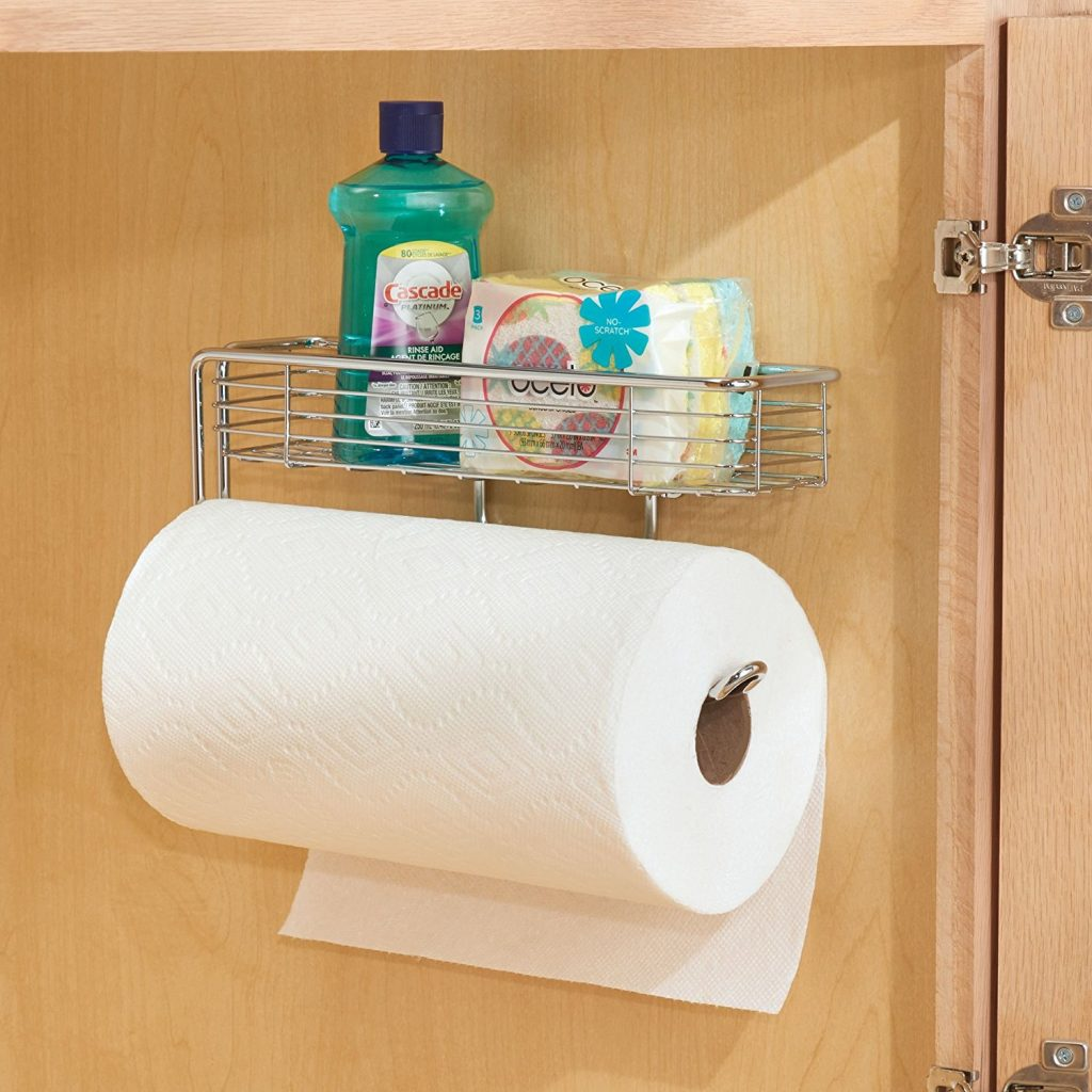 15 Clever Garage Hacks Wall Mount Garage Organization Paper Towel Holder With Storage Shelf