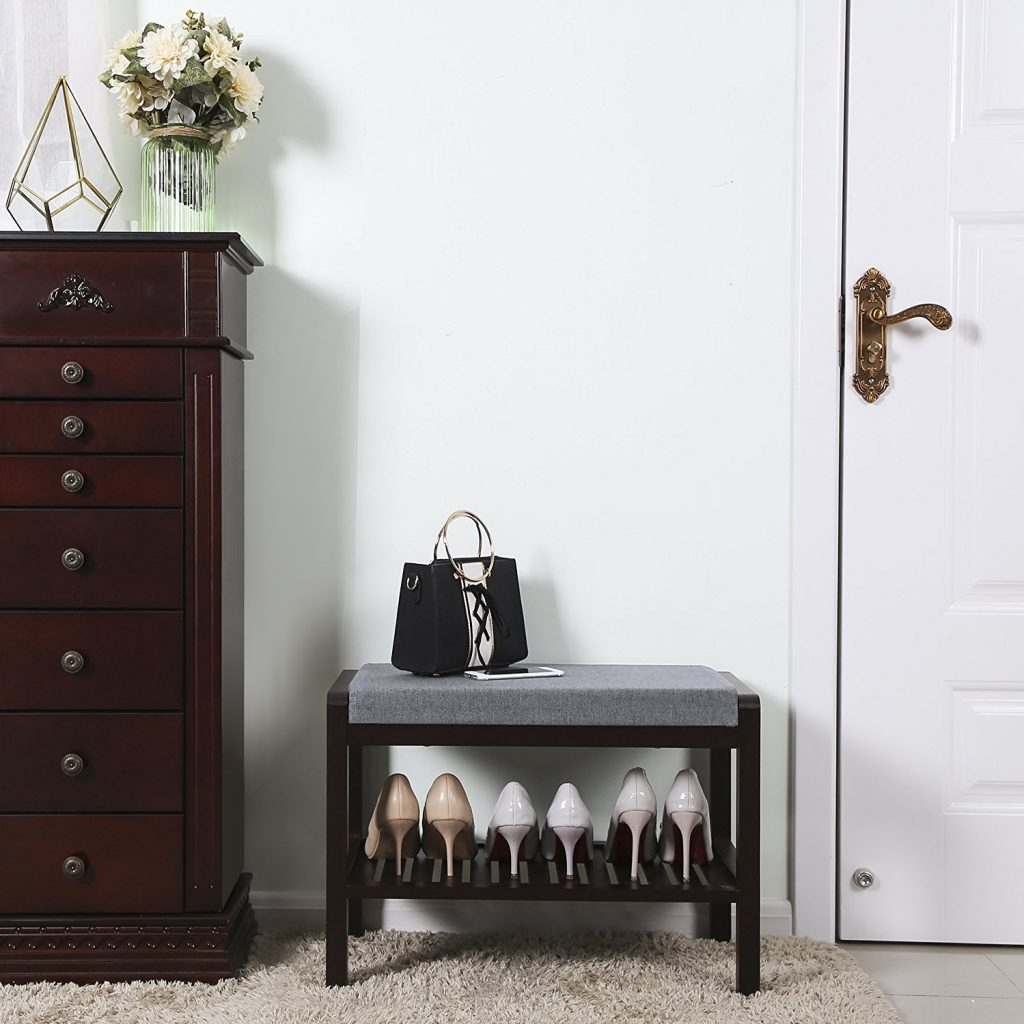 8 Mudroom Managing Tips That Really Work Songmics Shoe Bench Rack With Cushion With Shelf #Songmics #Mudroom #Organization #CleanMudroom #OrganizedMudroom #Storage #MudroomStorage #MudroomClean #MudroomOrganization #ShoeBenchRack #MudroomStorage