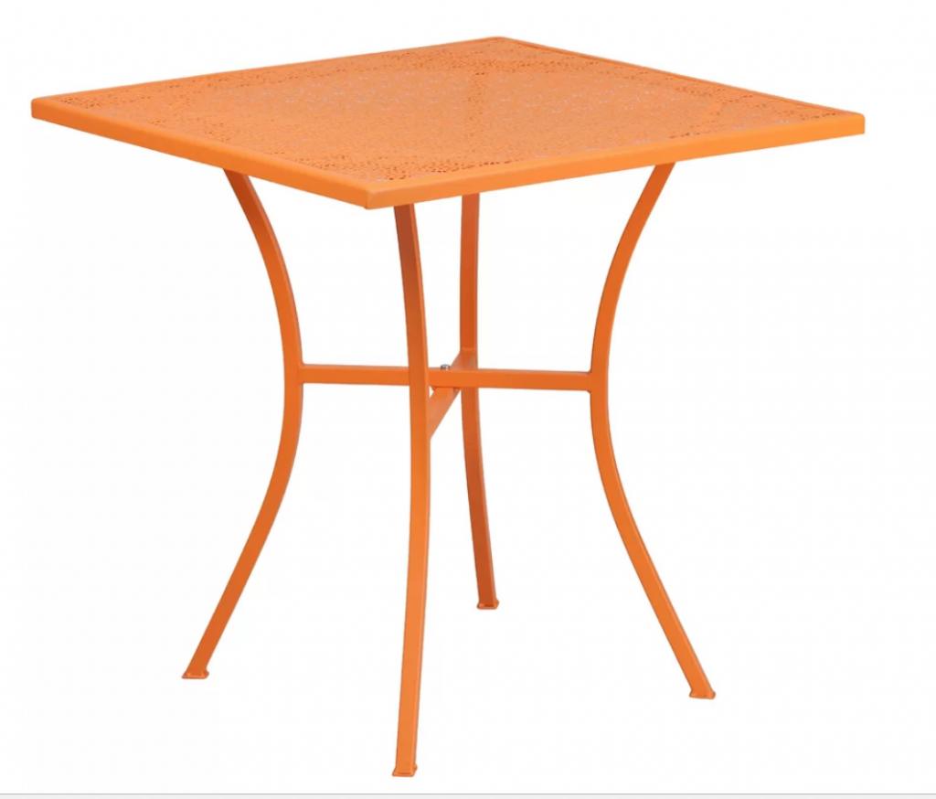 8 Bold Bistro Tables Lilliam Bistro Table #BistroTables #SmallSpace #SmallSpaceLiving #Wayfair #OutdoorLiving #Patio #Porch #pool