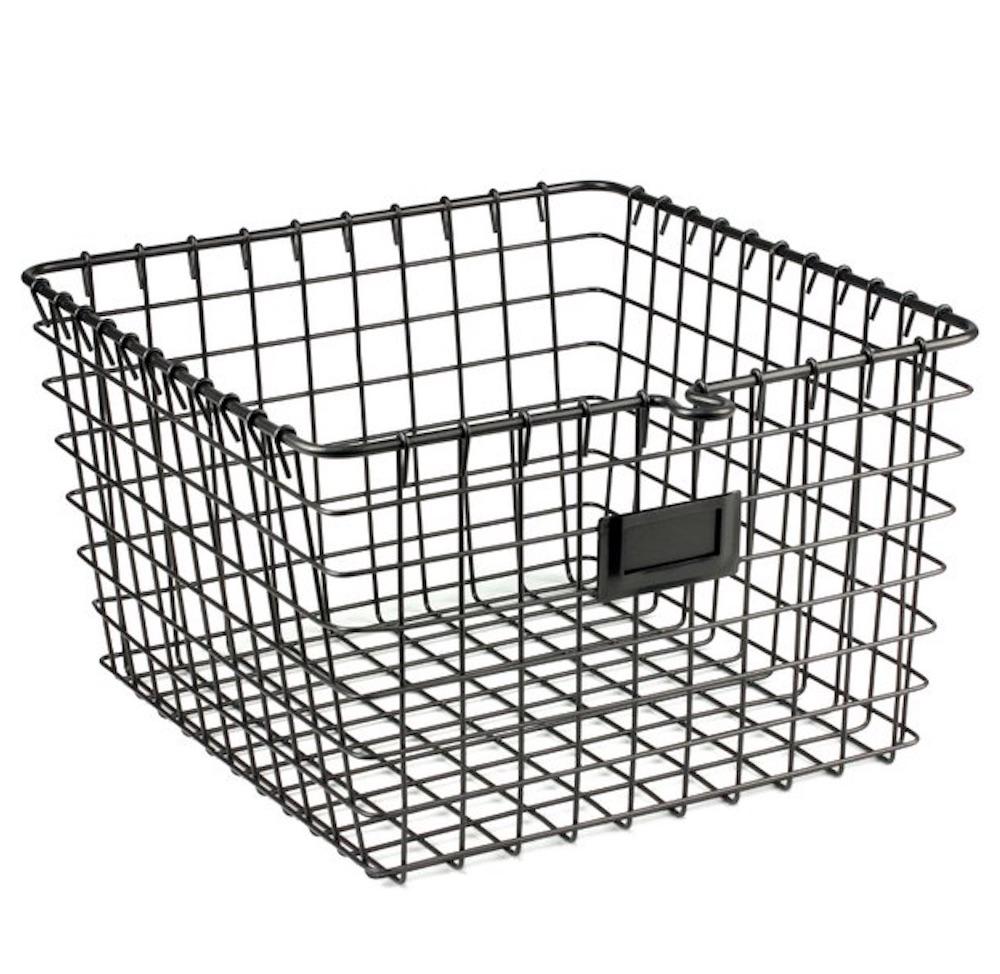 10 Massive Space Saving Closet Tips Metal Wire Basket #Organize #Organization #OrganizedCloset #OrganizeClothes #Closet #ClosetStorage #Storage #SaveTime #SaveMoney