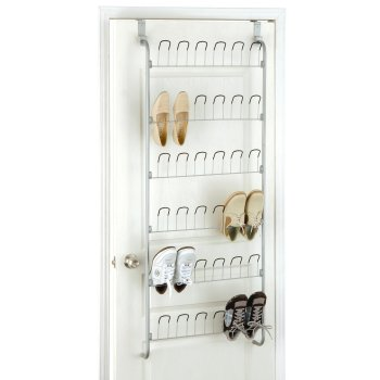 10 Massive Space Saving Closet Tips Over The Door Shoe Hanger #Organize #Organization #OrganizedCloset #OrganizeClothes #Closet #ClosetStorage #Storage #SaveTime #SaveMoney