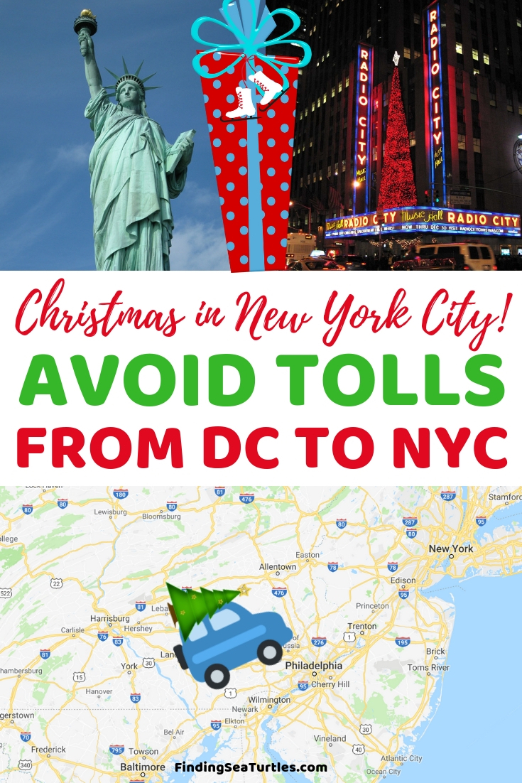 How to Avoid Tolls when Driving from DC to NYC Christmas In New York City! Avoid Tolls From DC To New York City #NYC #ChristmasinNYC #NewYorkTravel #NewYork #AvoidTolls #SaveMoney #FrugalLiving
