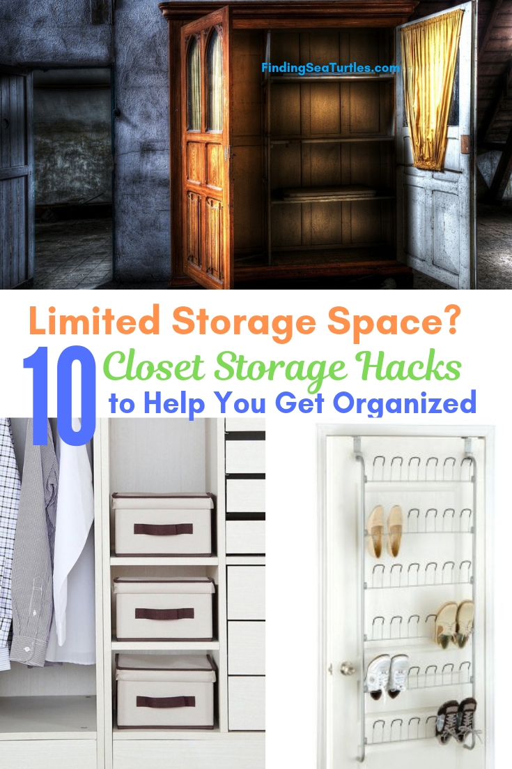 Limited Storage Space_ 10 Closet Storage Hacks To Help Get Organized #Organize #Organization #OrganizedCloset #OrganizeClothes #Closet #ClosetStorage #Storage #SaveTime #SaveMoney
