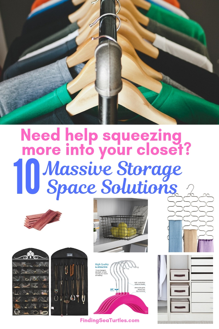Need Help Squeezing More Into Your Closet_ 10 Massive Storage Space Solutions #Organize #Organization #OrganizedCloset #OrganizeClothes #Closet #ClosetStorage #Storage #SaveTime #SaveMoney