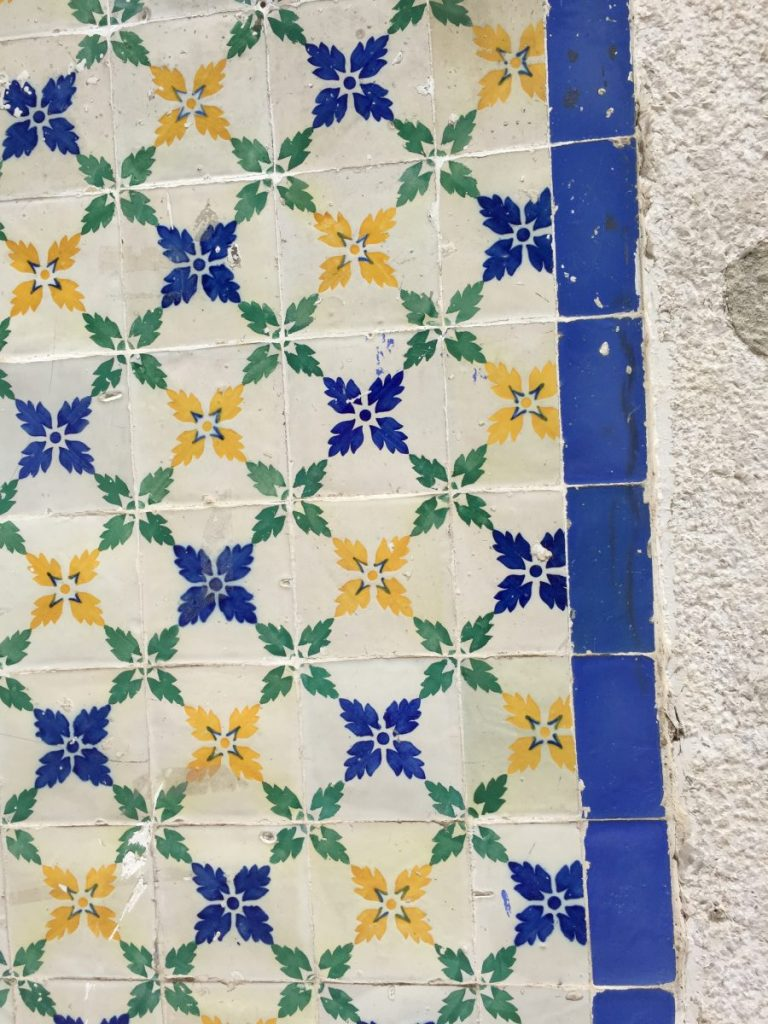 Old World Tiles of Lisbon, Portugal Tile 9 #Lisboa #Lisbon #Portugal #PortugalTravel #TravelPortugal #BeautifulPortugal #Alfama #PortugueseTiles #LovePortugal