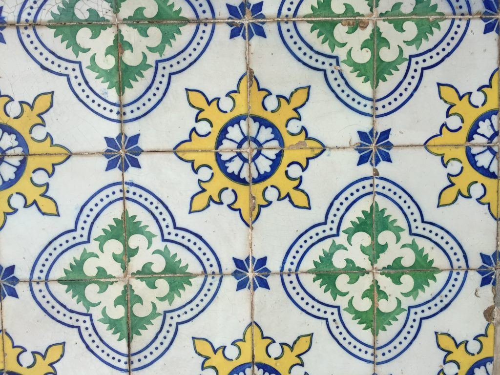 Old World Tiles of Lisbon, Portugal Tile 2 #Lisboa #Lisbon #Portugal #PortugalTravel #TravelPortugal #BeautifulPortugal #Alfama #PortugueseTiles #OldWorldTiles