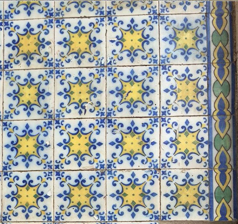 Old World Tiles of Lisbon, Portugal Tile 1 #Lisbon #Lisboa #Portugal #TravelPortugal #PortugalTravel #PortugueseTiles #BeautifulTiles
