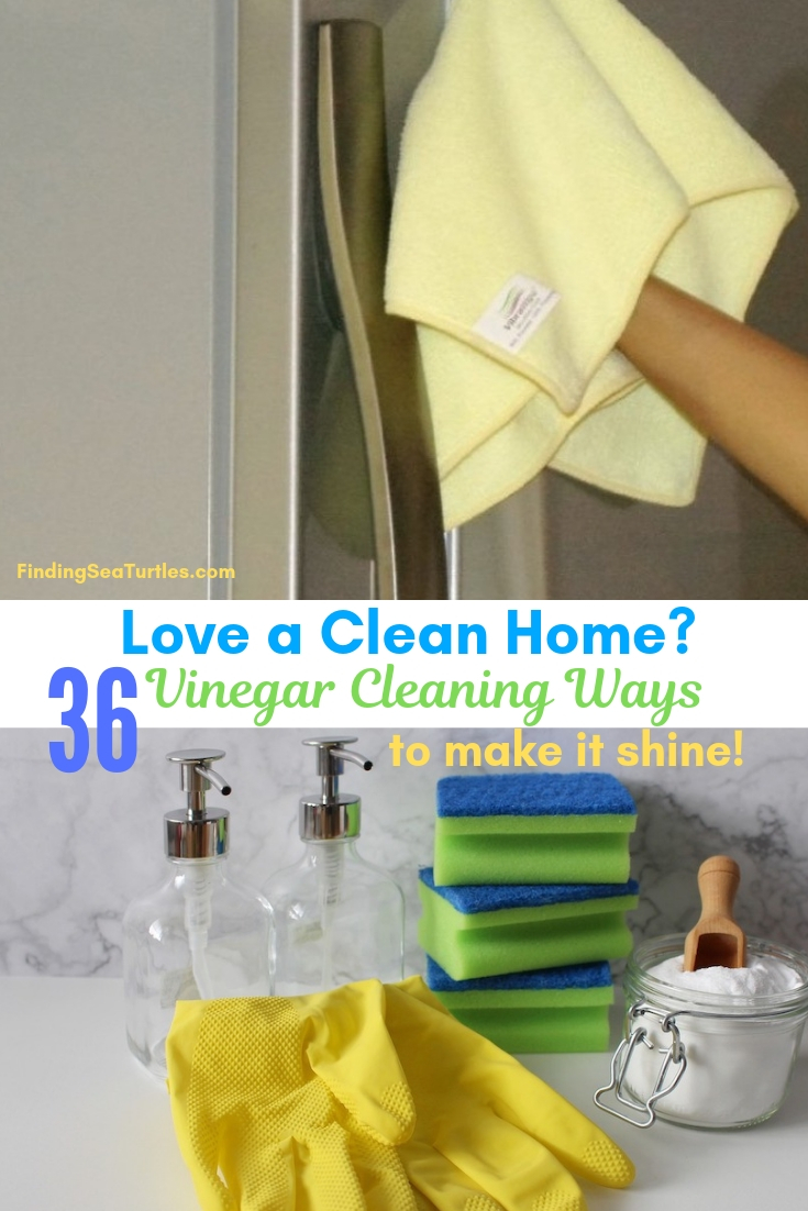 Love A Clean Home? 36 Vinegar Cleaning Ways To Make It Shine! #Cleaning #HouseCleaning #HouseKeeping #Vinegar #CleaningwithVinegar #Affordable #SaveMoney #SaveTime #BudgetFriendly #NonToxic #EnvironmentallyFriendly