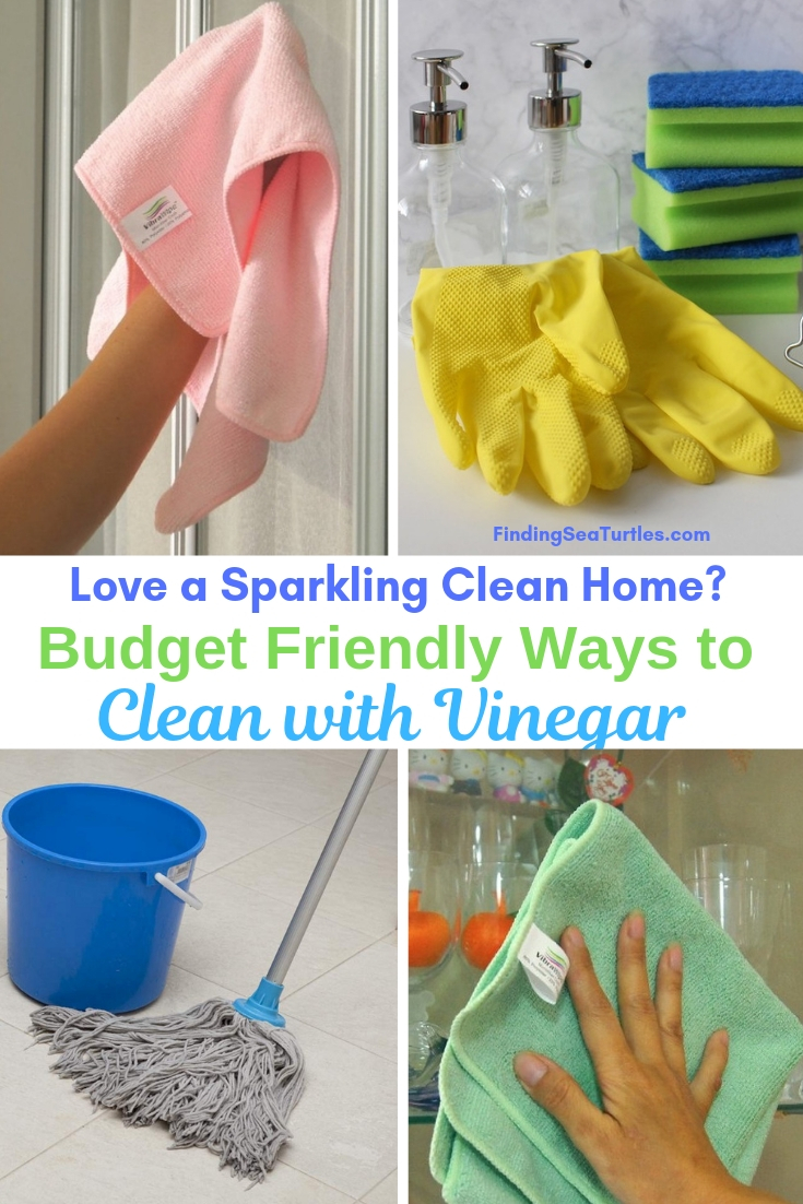 Love A Sparkling Clean Home? Budget Friendly Ways To Clean With Vinegar #Cleaning #HouseCleaning #HouseKeeping #Vinegar #CleaningwithVinegar #Affordable #SaveMoney #SaveTime #BudgetFriendly #NonToxic #EnvironmentallyFriendly