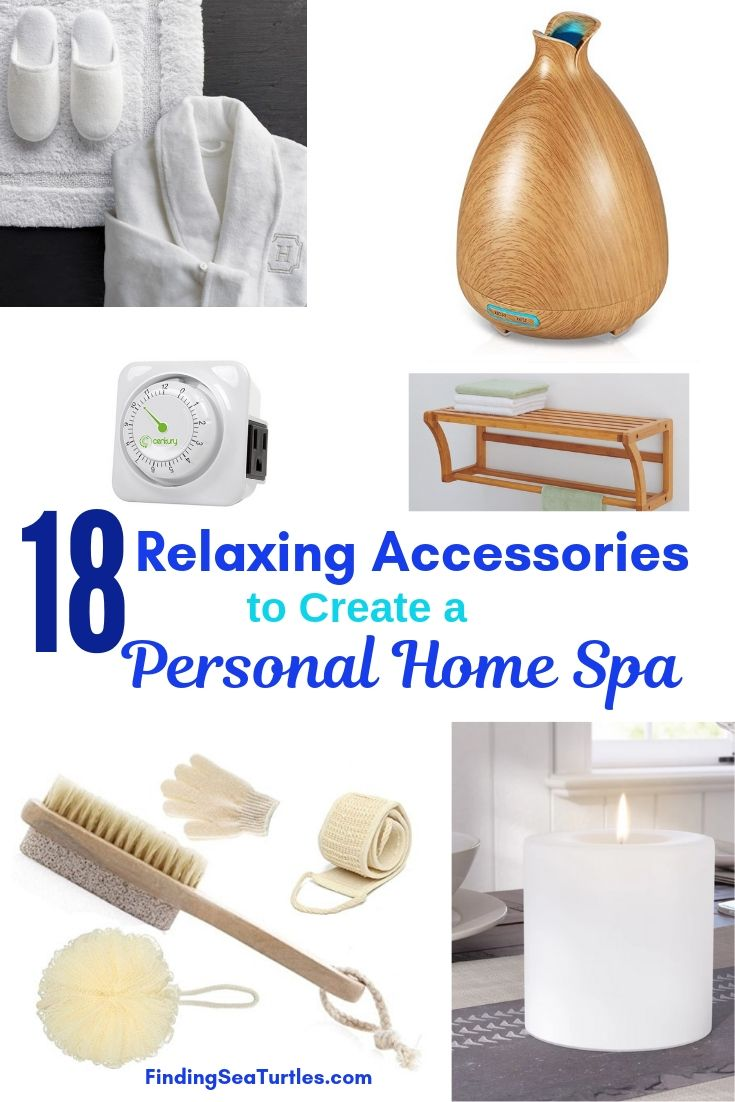 18 Relaxing Accessories To Create A Personal Home Spa #HomeSpa #SpaAccessories #SpaBathAccessories #DIYSpa #SelfCare #SelfHelp