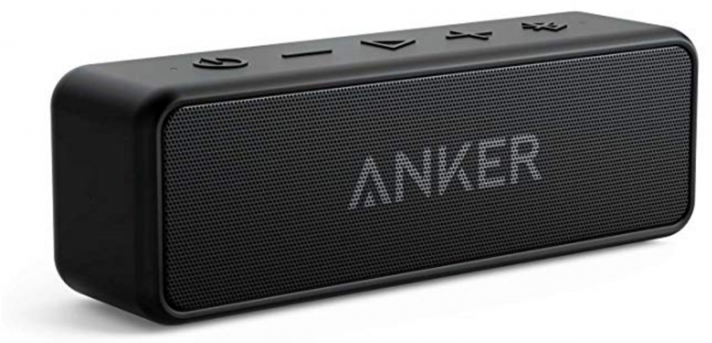 Create a Spa at Home with these 18 Bath Accessories - Anker Soundcore2 Bluetooth Speaker #spa #bathroom #homespa #pamperyourself #spaaccessories #metime #bathaccessories