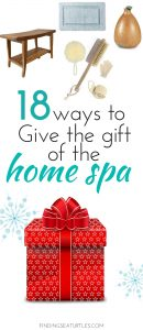 Gift the gift of a home spa with these 18 Bath Accessories #spa #bathroom #homespa #pamperyourself #spaaccessories #metime #bathaccessories