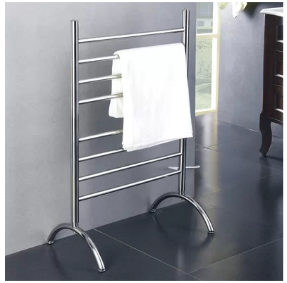 Create a Spa at Home with these 18 Bath Accessories -Barcelona Free-standing Tower Warmer #spa #bathroom #homespa #pamperyourself #spaaccessories #metime #bathaccessories