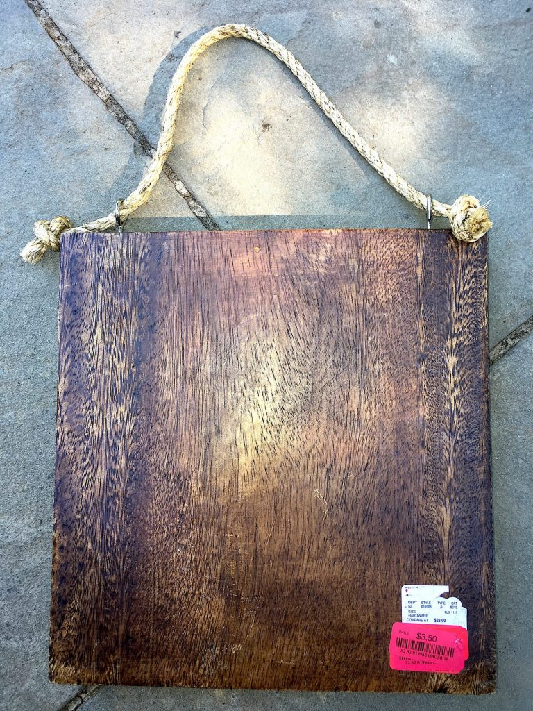 Coastal DIY: Mid-Century Modern Address Sign - Workshop Wood Sign found at HomeGoods #coastal #beachhousedecor #HomeGoods #DIY #frugalLiving #housenumber