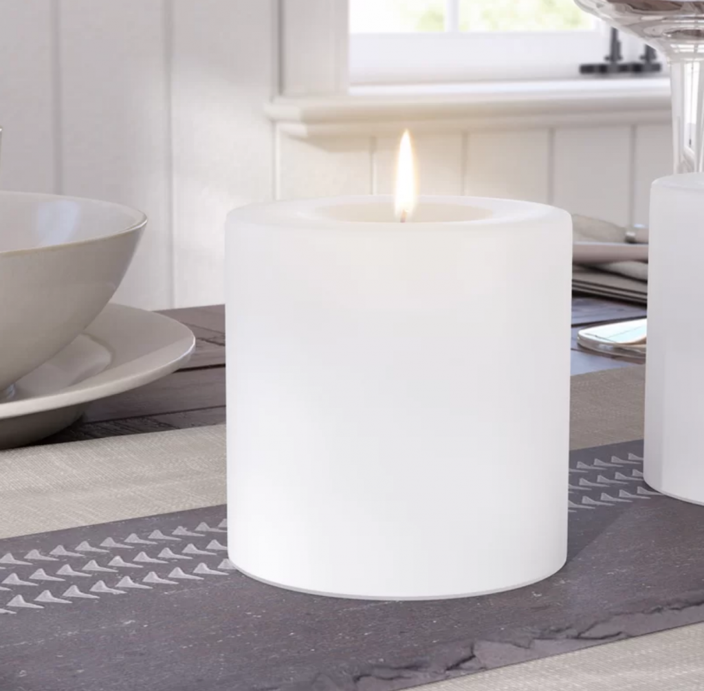 Create a Spa at Home with these 18 Bath Accessories - Wax Pillar Candles #spa #bathroom #homespa #pamperyourself #spaaccessories #metime #bathaccessories