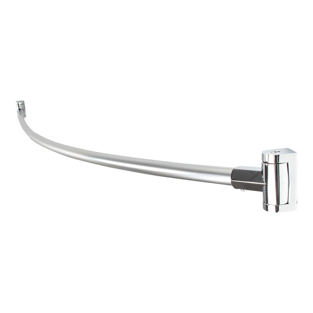 Create a Spa at Home with these 18 Bath Accessories - LDR Exquisite Curved Shower Rod #spa #bathroom #homespa #pamperyourself #spaaccessories #metime #bathaccessories