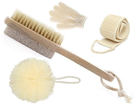 Create a Spa at Home with these 18 Bath Accessories - LDR Olivia and Aiden Spa Brush Set #spa #bathroom #homespa #pamperyourself #spaaccessories #metime #bathaccessories