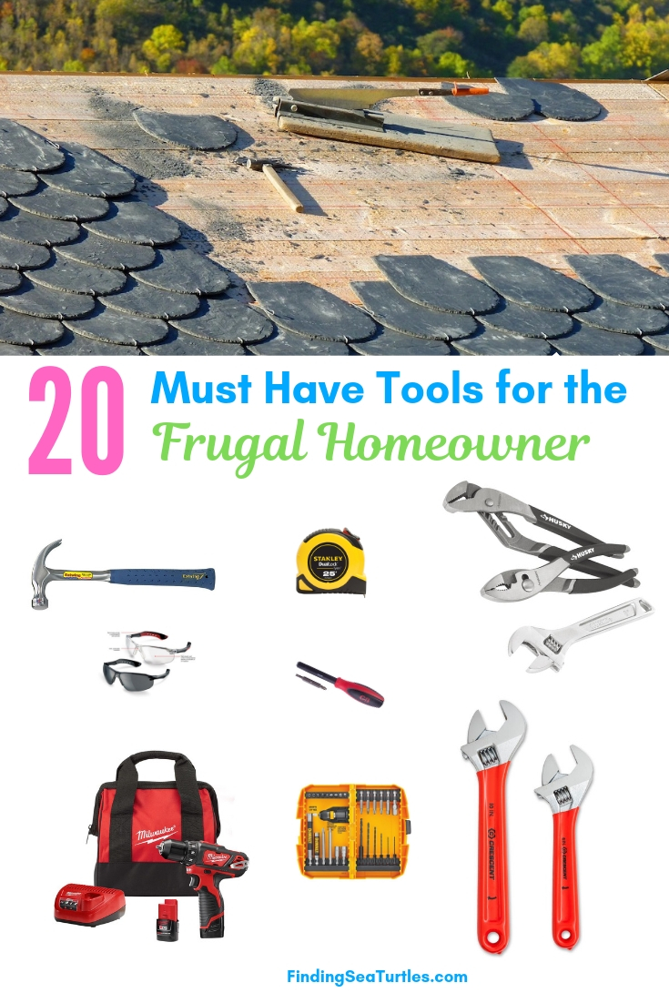 20 Must Have Tools For The Frugal Homeowner #DIY #Tools #Toolbox #MustHaveTools #HomeRepair #FirstTimeHomeowner #Homeowner