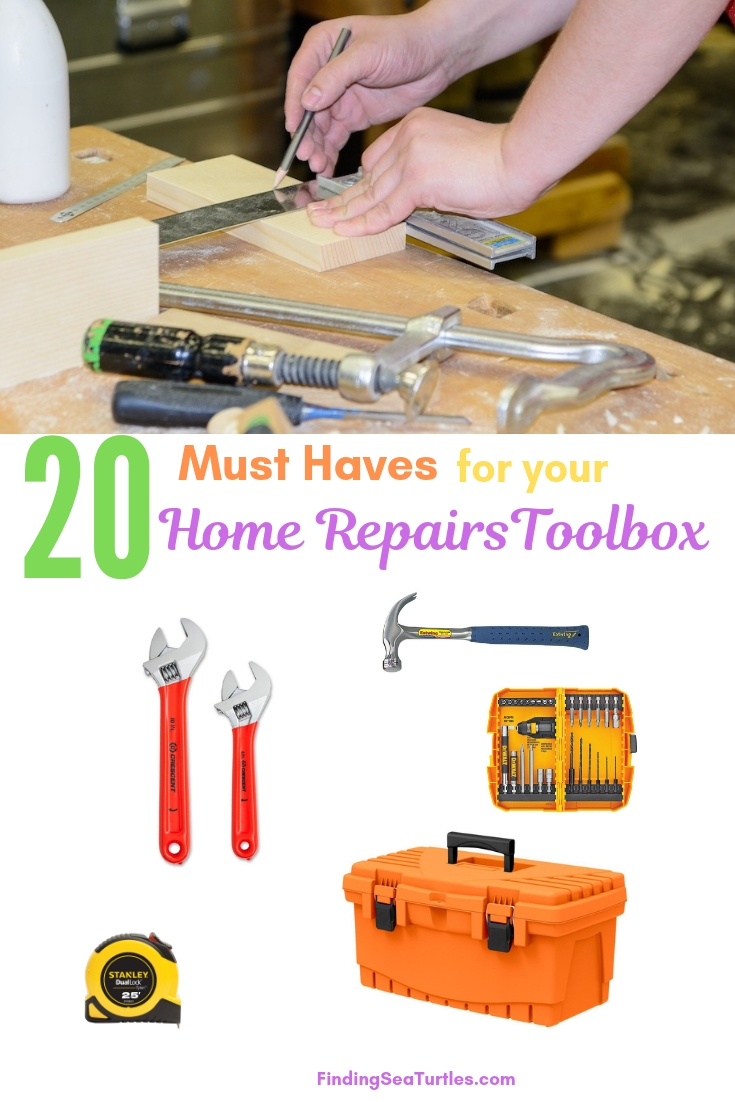 20 Must Haves For Your Home Repairs Toolbox #DIY #Tools #Toolbox #MustHaveTools #HomeRepair #FirstTimeHomeowner #Homeowner