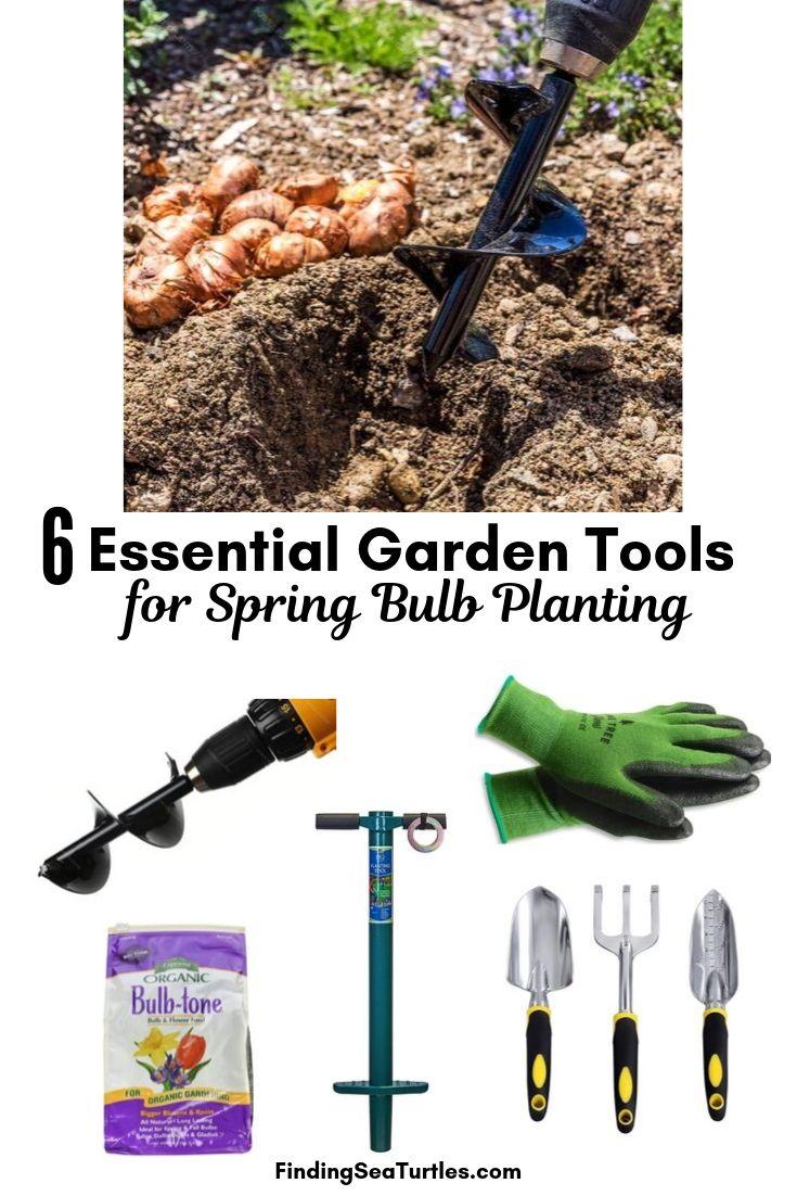 6 Essential Garden Tools For Spring Bulb Planting #PlantBulbs #Garden #Gardening #GardenTools #GardenBulbs #FallPlanting #PlantingTools #SpringBloomingFlowers#Landscape #PlantTulips #PlantDaffodils