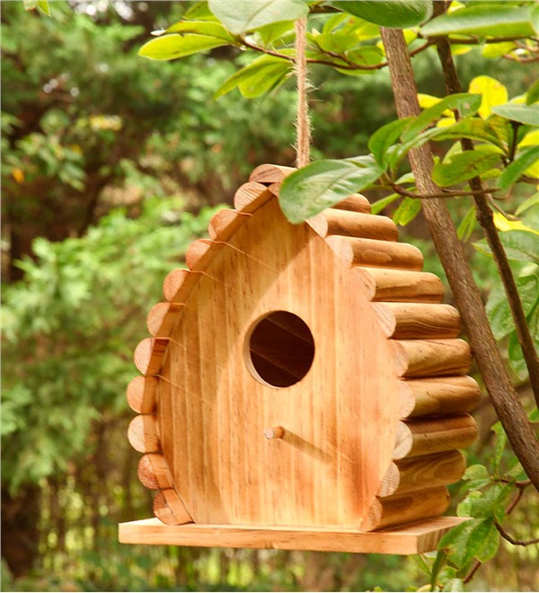 10 Blissful Birdhouses To Attract Birds That Serenade Handcrafted Wood Dew Drop Birdhouse #BlissfulBirdhouses #Birdhouses #Garden #Gardening #AttractsBirds #DewDropBirdhouse