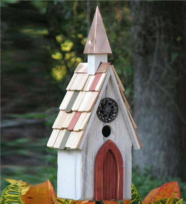 10 Blissful Birdhouses To Attract Birds That Serenade Jubliee A Line Birdhouse With Copper Steeple #BlissfulBirdhouses #Birdhouses #Garden #Gardening #AttractsBirds #JubileeAlineBirdhouse