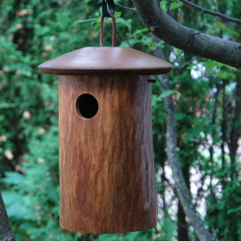 10 Blissful Birdhouses To Attract Birds That Serenade Natural Blue Bird House #BlissfulBirdhouses #Birdhouses #Garden #Gardening #AttractsBirds #NaturalBluebirdHouse