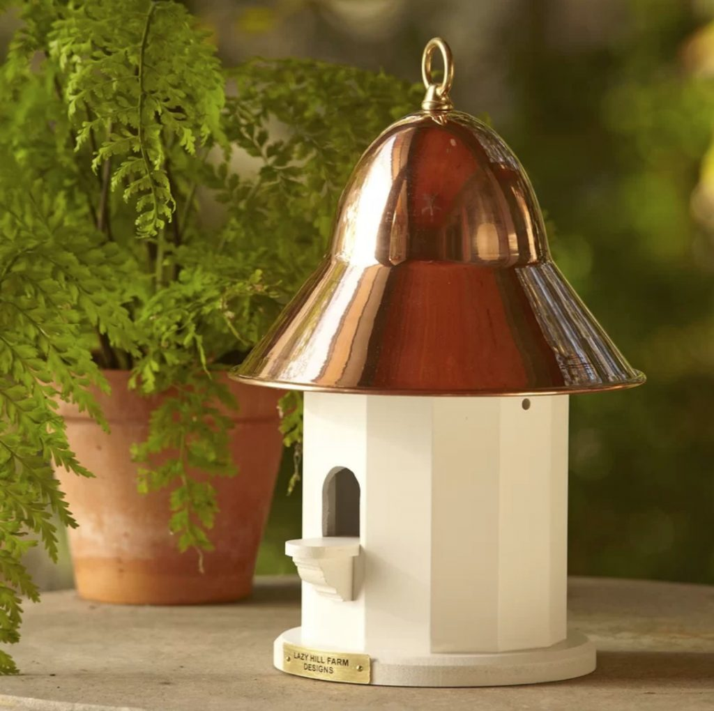 10 Blissful Birdhouses To Attract Birds That Serenade Whilhemina Birdhouse By Lazy Hill Farm Designs #BlissfulBirdhouses #Birdhouses #Garden #Gardening #AttractsBirds #WilheminaBirdhouse