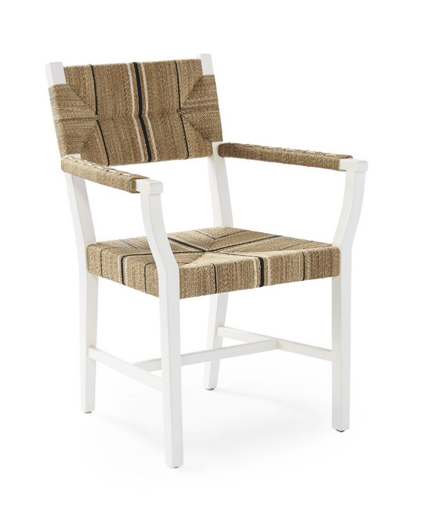 Chairs with Coastal Flair: Serena & Lily Collection - Carson Armchair #SerenaLily #CoastalDecor #CoastalHome #BeachHouse