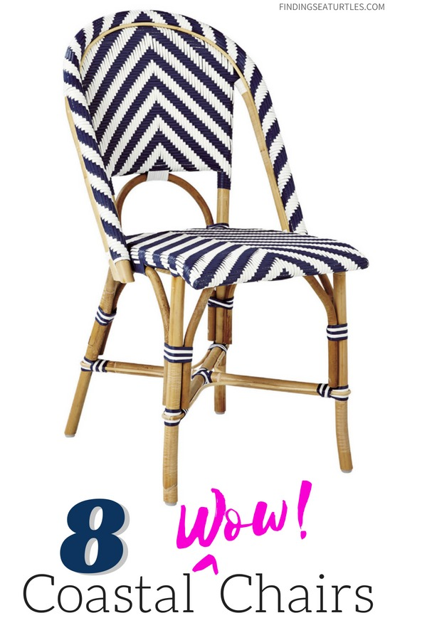 Chairs with Coastal Wow Factor! Serena & Lily Collection #SerenaLily #CoastalDecor #CoastalHome #BeachHouse