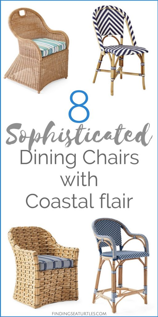 Chairs with Coastal Flair: Serena & Lily Collection #SerenaLily #CoastalDecor #CoastalHome #BeachHouse