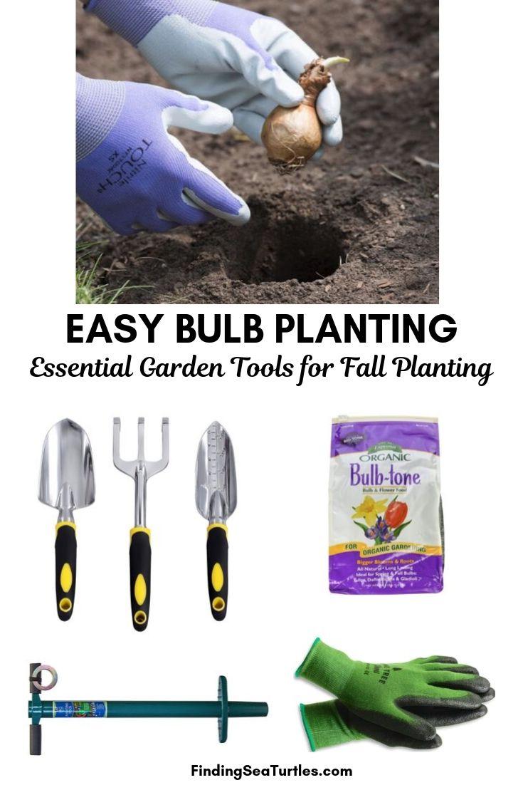 EASY BULB PLANTING Essential Garden Tools For Fall Planting #PlantBulbs #Garden #Gardening #GardenTools #GardenBulbs #FallPlanting #PlantingTools #SpringBloomingFlowers#Landscape #PlantTulips #PlantDaffodils