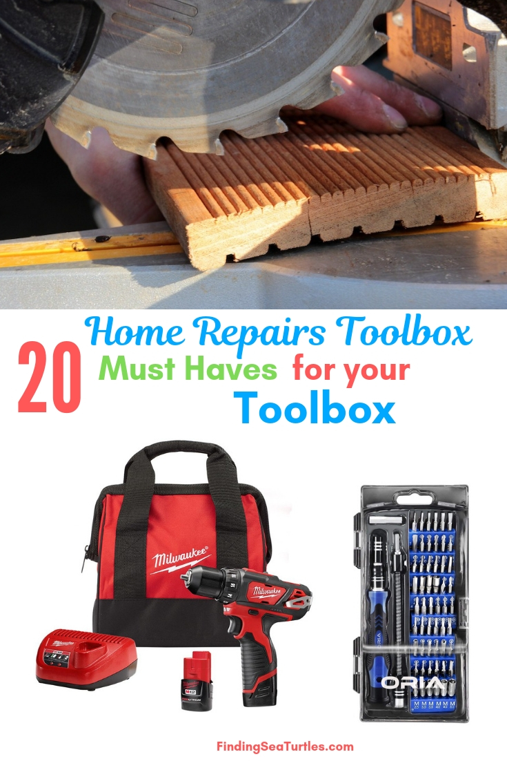 Home Repairs Toolbox 20 Must Haves For Your Toolbox #DIY #Tools #Toolbox #MustHaveTools #HomeRepair #FirstTimeHomeowner #Homeowner