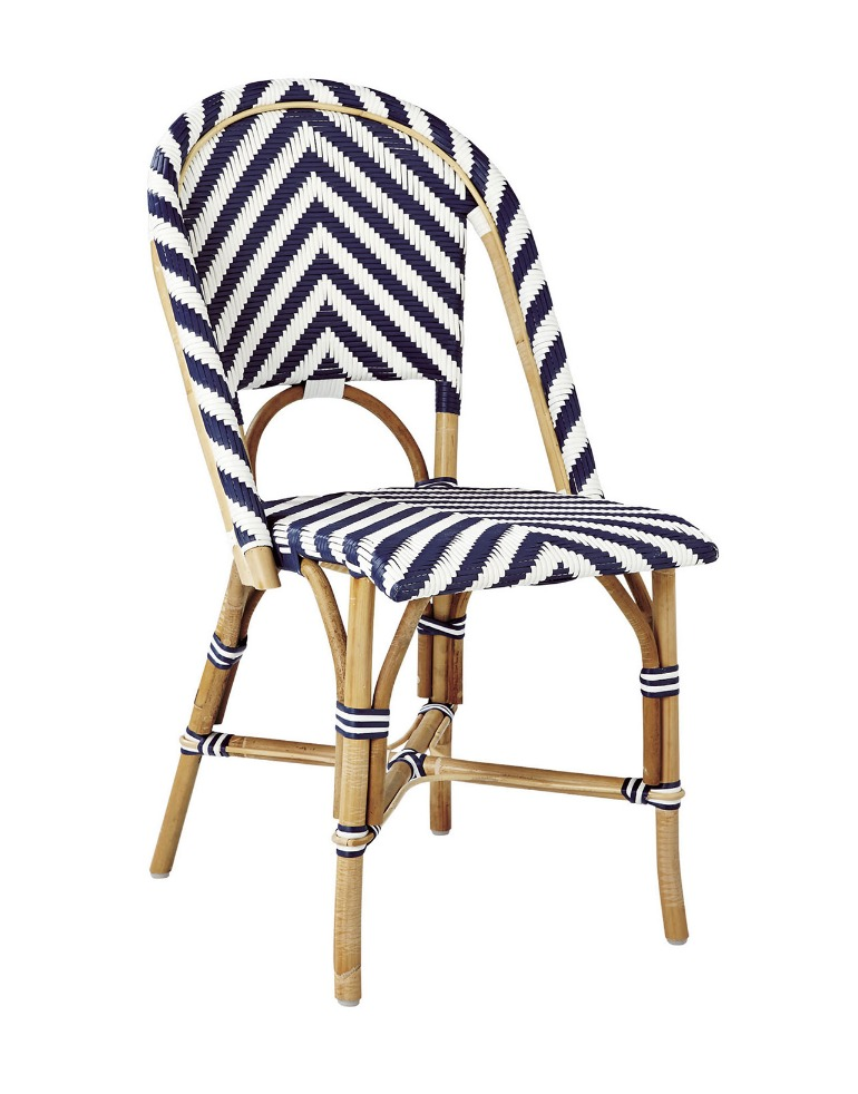 Chairs With Coastal Flair Serena Lily Collection Riviera Chevron Side Chair Serenalily