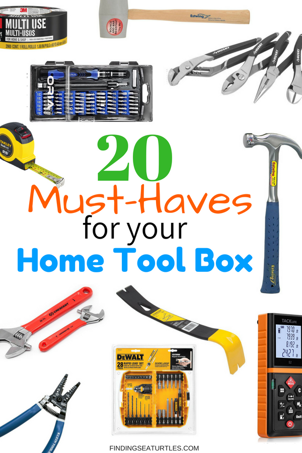 20 Must-Haves for the Home Tool Box #DIY #Toolbox #MustHaveTools #HomeRepair