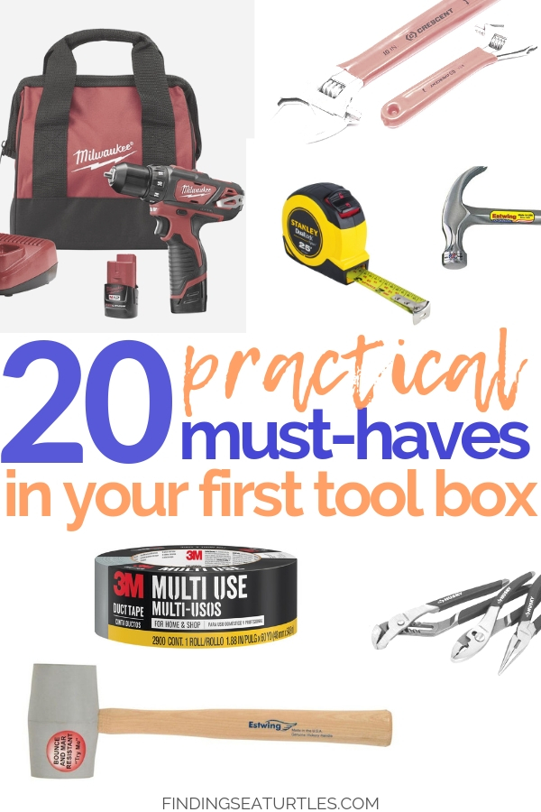 Your First Tool Box - 20 Things You'll Want! #DIY #Toolbox #MustHaveTools #HomeRepair