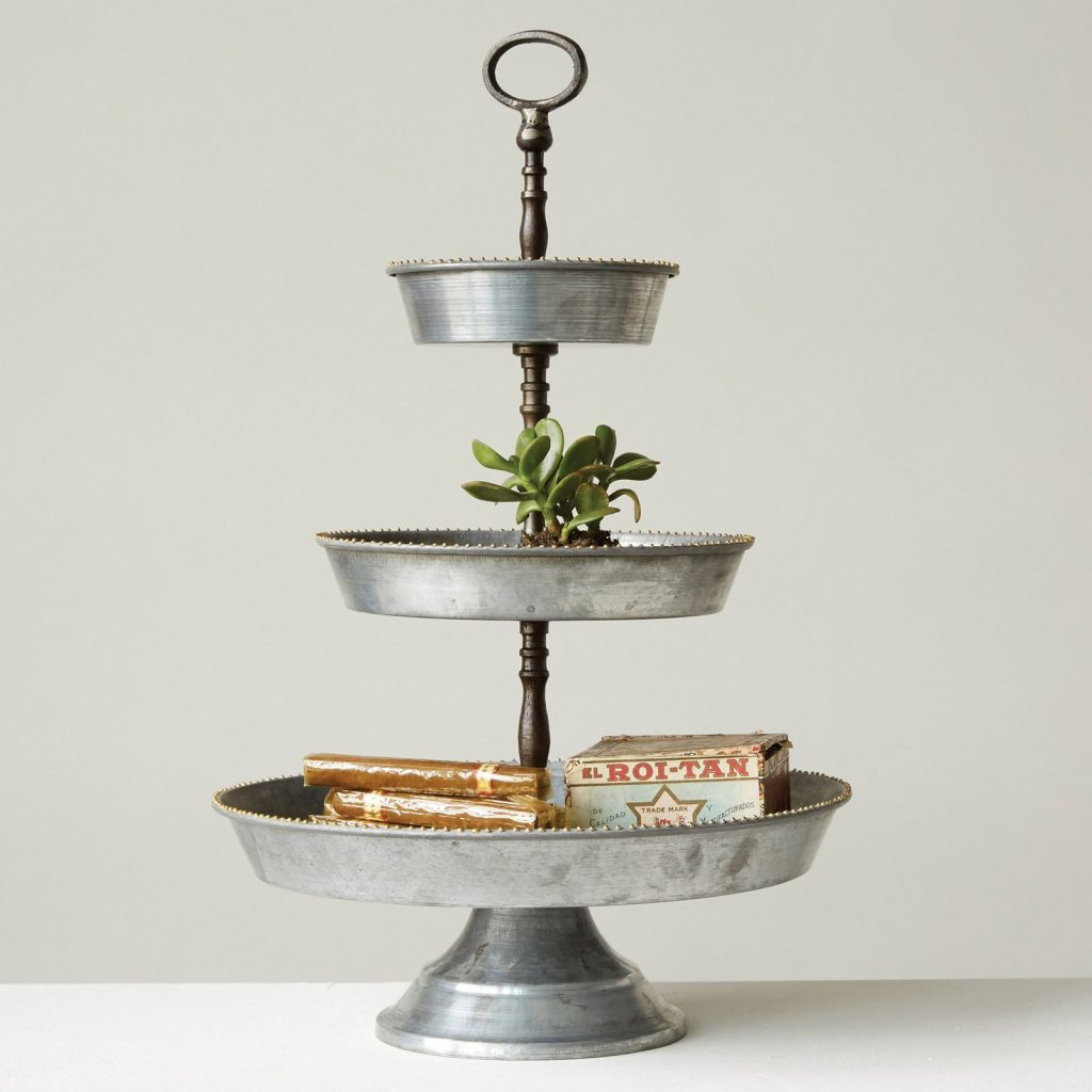 9 Affordable Farmhouse Tiered Stands 3R Studios Decorative 3 Tiered Server #TierStand #TierTrayStand #MetalTrayStand #Decor #HomeDecor #Decorate