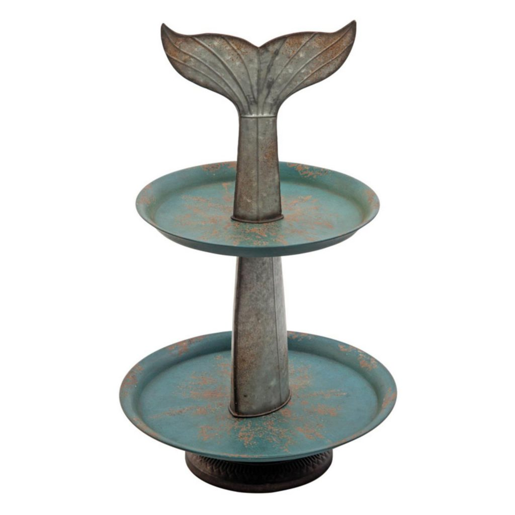 9 Affordable Farmhouse Tiered Stands Foreside Home And Garden Whale Tail Tier Server #TierStand #TierTrayStand #MetalTierStand #Decor #HomeDecor #Decorate