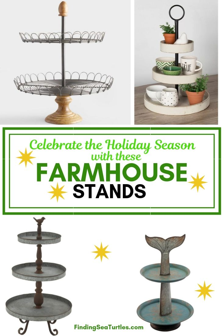 Celebrate the Holiday Season with these FARMHOUSE STANDS #FarmhouseDecor #FarmhouseStands #HolidayDecor #DIY #BudgetFriendly #HolidayDecor