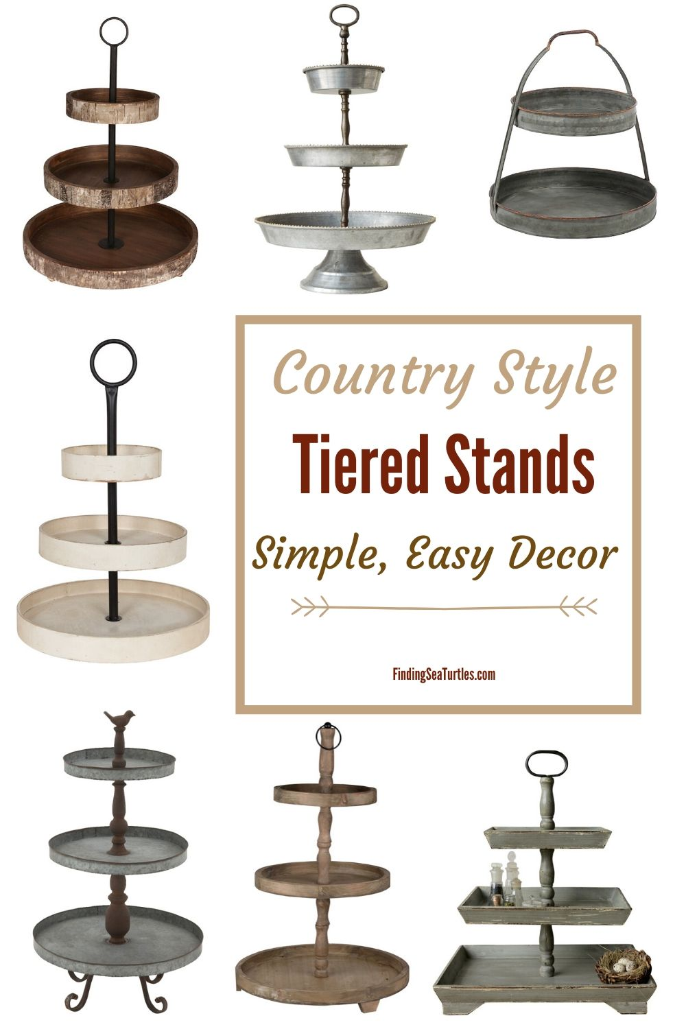 Country Style Simple Easy Decor 2 #TierStands #TierTrayStandd #Decor #FarmhouseDecor #RusticDecor #VintageDecor #CountryStyleDecor