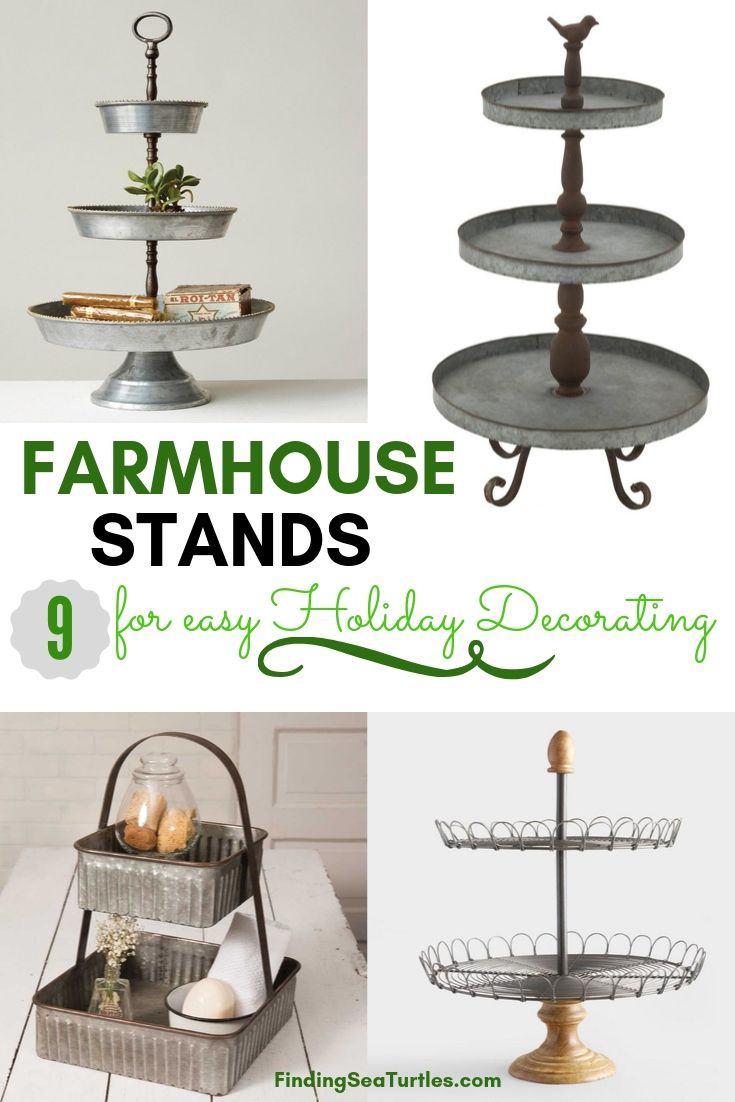 FARMHOUSE STANDS 9 for easy Holiday Decorating #FarmhouseDecor #FarmhouseStands #HolidayDecor #DIY #BudgetFriendly #HolidayDecor