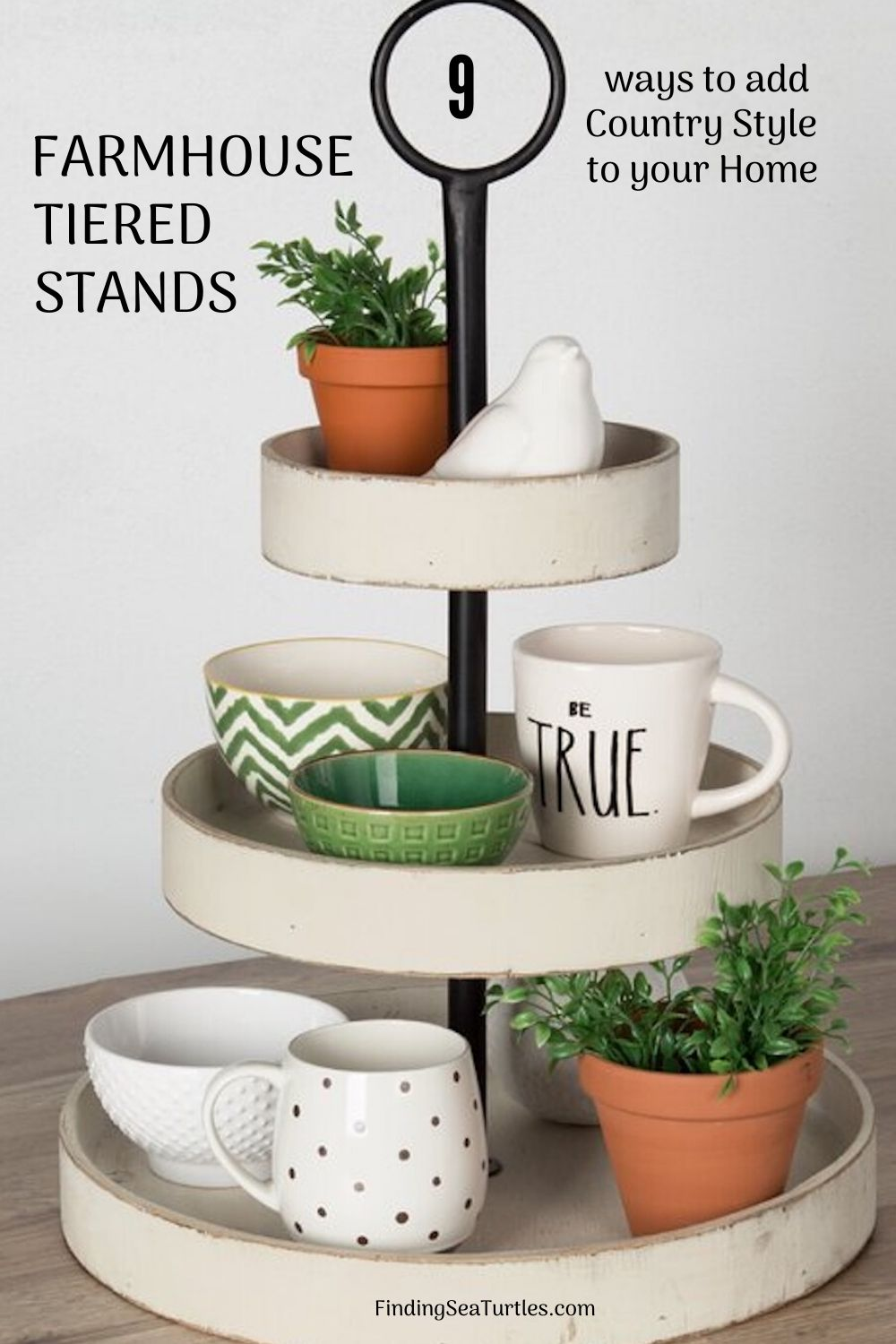 """Farmhouse Tiered Stands #TierStand #TierTrayStand #Decor #HomeDecor #Decorate"