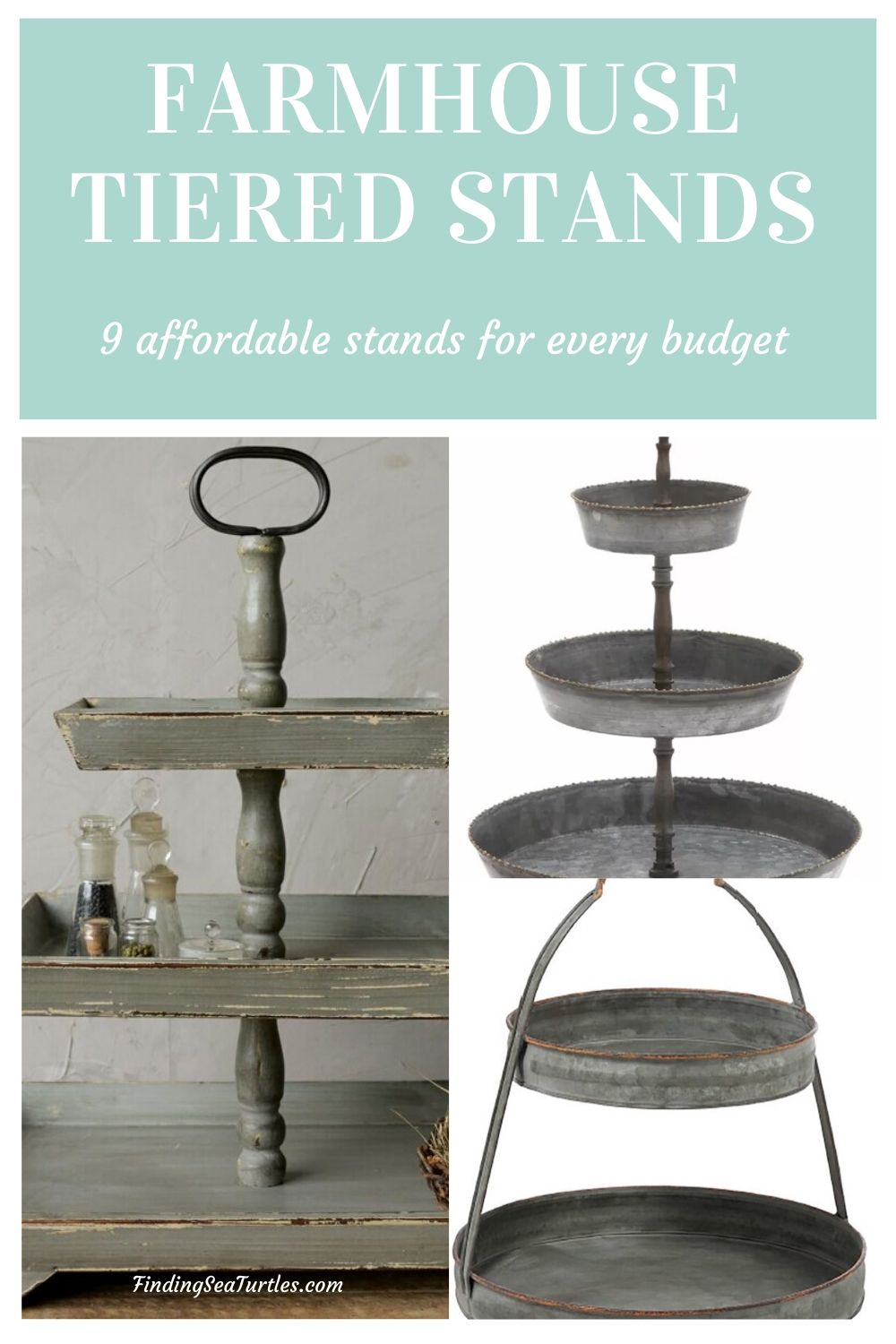 The Farmhouse Stand 9 affordable stands 2 #TierStands #TierTrayStandd #Decor #FarmhouseDecor #RusticDecor #VintageDecor #CountryStyleDecor