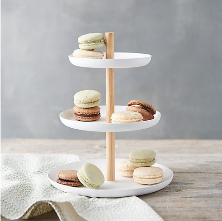 9 Affordable Farmhouse Tiered Stands White Steel Three Tier Stand #TierStand #TierTrayStand #Farmhouse #Decor #HomeDecor #GettheLook