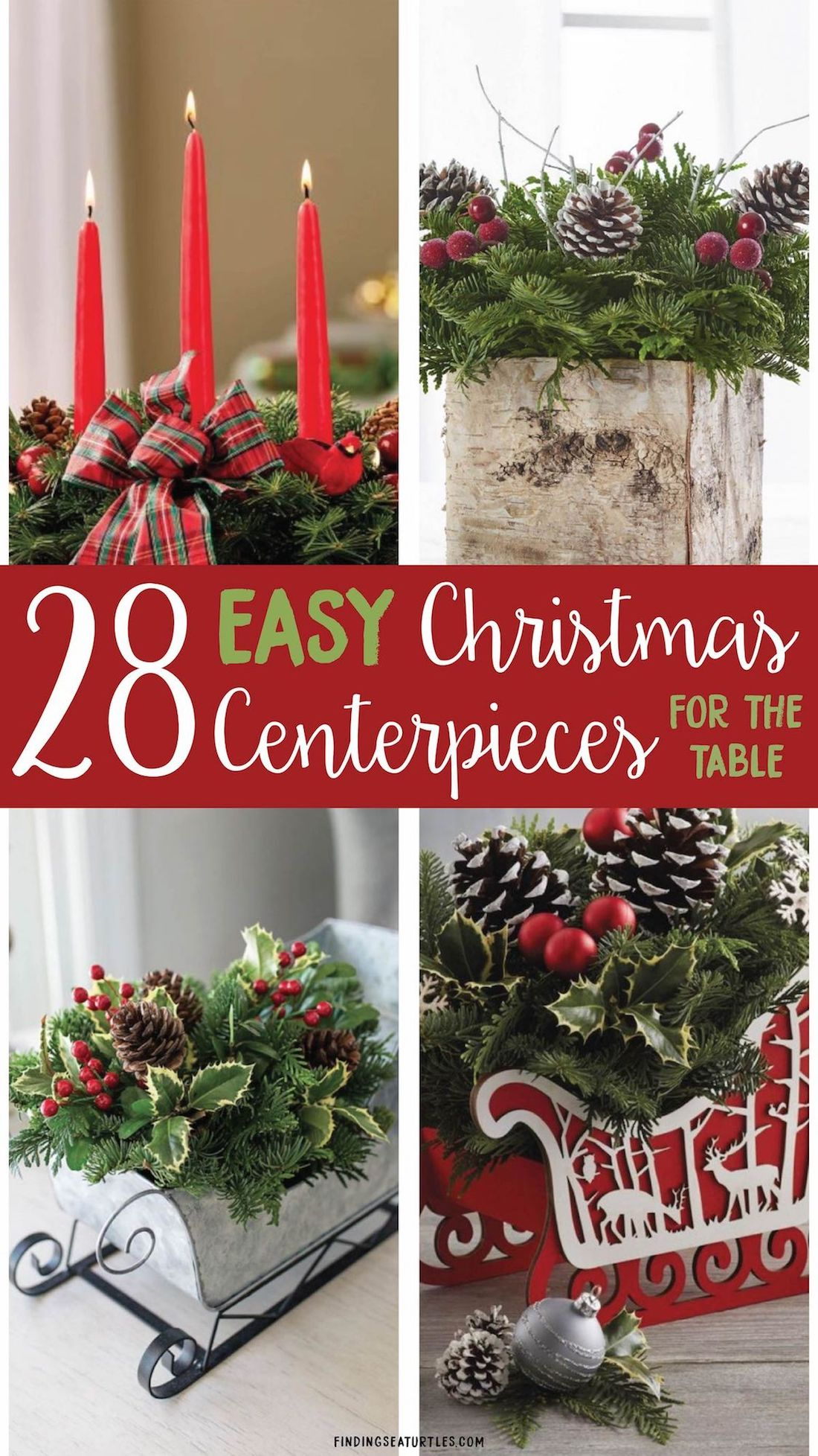 28 EASY Christmas Centerpieces For The Table! #ChristmasCenterpiece #Christmas #ChristmasDecor